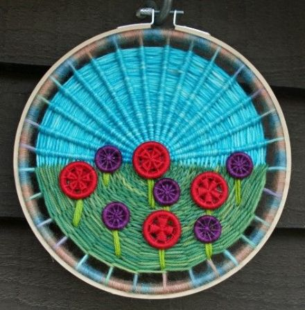 Experimental Dorset Button Instructions - Meadow Wall Hanging